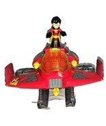Imaginext Teen Titan Go Robin & Jet Vehicle pre-owned - $21.00