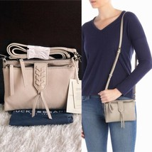 New LUCKY BRAND Amber Convertible Leather Wallet Crossbody Bag Grey $98 NWT - $46.75