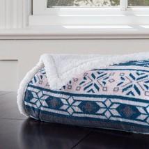 Fleece Throw Blanket Sherpa Woven Comforter Knit Down Bedspread Bed In A... - $37.94