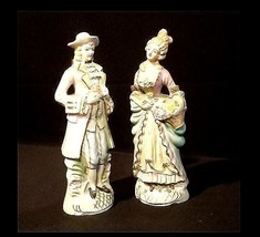 Man & Woman Figurine Hand-Painted AB 834 Vintage