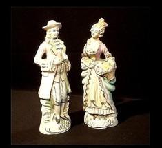 Man & Woman Figurine Hand-Painted AB 834 Vintage - $59.35