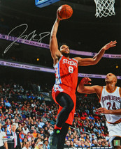 Jahlil Okafor signed Philadelphia 76ers 16x20 Photo (red jersey lay-up v... - $23.95