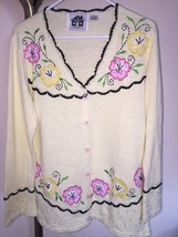"Storybook Knits ""Romantic Getaway"" Sweater Cardigan Sz Small - $45.53"