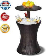 Adjustable Rattan Cooler Outdoor Patio Pool Party Ice Drink Mix All in O... - €96,53 EUR
