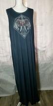 Style & Co Womens Blue Maxi Long Tank Dress Sleeveless Size XL Summer El... - $20.30