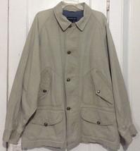 Calvin Klein Sport Thick Cotton Zip & Button Up Field Barn Jacket Coat XL - $9.28