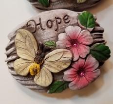 Decorative Stones Set of 3 Garden Decor Love Peace Hope Painted Rock image 3
