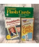 Vtg Classroom Fraction Advanced Trend Fraction Fun Presidents Flash Card... - $39.99