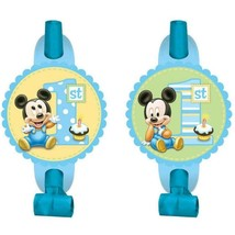 Mickey's 1st Birthday Party Favor Blowouts 8 Count Birthday Party Suppli... - $5.89