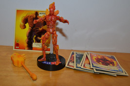 "MARVEL LEGENDS SHOWDOWN HUMAN TORCH LOOSE ACTION FIGURE TOYBIZ 4"" 2005 C... - $10.11"