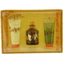 Curve By Liz Claiborne Cologne Spray 4.2 Oz & After Shave Balm 3.4 Oz & Hair And - $42.73