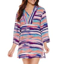 Liz Claiborne Stripe Swim Cover-up Dress Size S, XL Msrp $48.00 New - $29.99