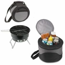 Portable Charcoal Bbq Grill And Cooler Combo W/ Carry Tote Picnic Time C... - £35.76 GBP
