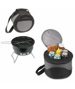 Portable Charcoal Bbq Grill And Cooler Combo W/ Carry Tote Picnic Time C... - £36.01 GBP