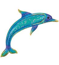 "Metallic Shine Watercolor Marine Life Dolphin Wall Decor,Beach,Tropical,22"" - $44.55"