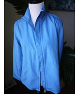 cutter and buck cb weather tec light blue women s golf jacket - $19.99