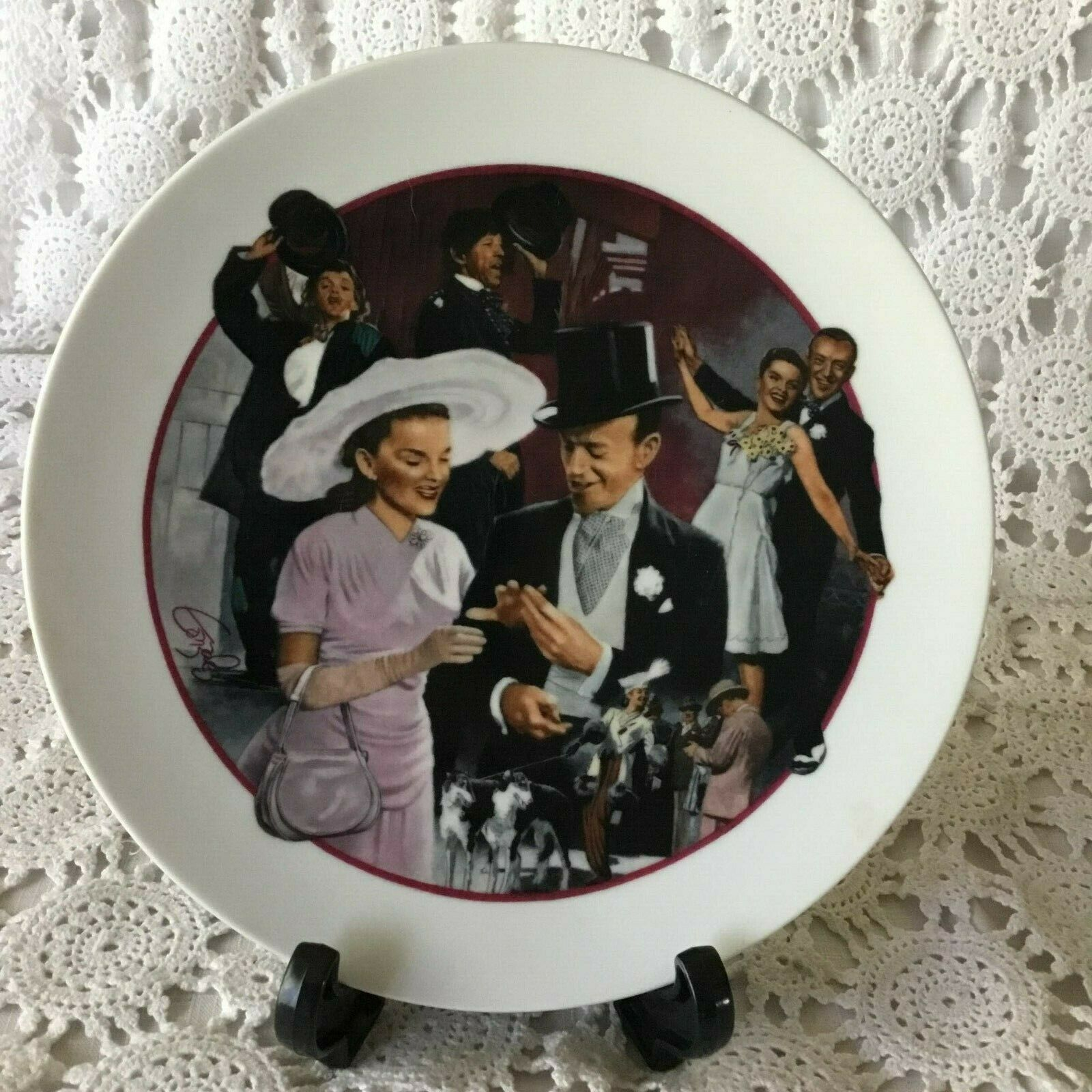 Avon Easter Parade Images of Hollywood Porcelain Collector Plate 1975