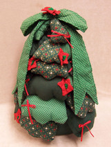 HAND CRAFTED FABRIC WEIGHTED CHRISTMAS TREE DOOR STOP - $10.84