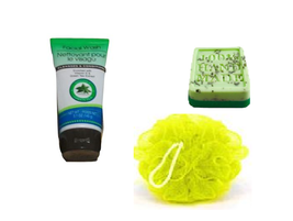 Bath & Body Herbal Scrub and Soap 3 Piece Gift Set  ~Green Tea / Mint~ - $11.83