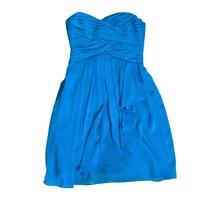 Davids Bridal Womens Bridesmaid Dress Size 2 Aqua Blue Strapless Formal ... - $39.60