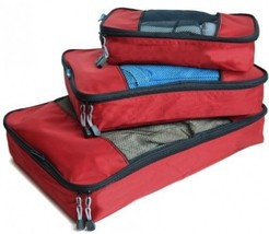 TravelWise Packing Cubes - 3 Piece Set (Red) - $771,66 MXN