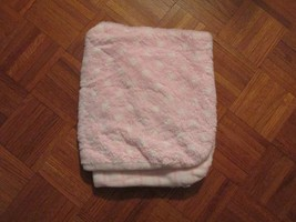 Blankets and Beyond Pink White Baby Blanket Stripe Polka Dot Reversible ... - $59.59
