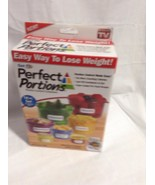 NIB Get Fit Perfect Portion Control Containers 14 pc set meal plan & rec... - $9.94