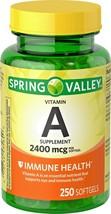Vitamin A Softgels 2400 Mcg Immune Health 250 Softgels - $9.80