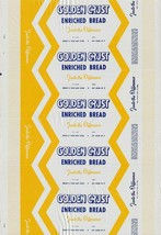 Vintage bread wrapper GOLDEN CRUST ENRICHED BREAD Reg Penna Agr new old ... - $8.99