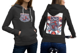 Strong Fighter MMA Black Hoodie 2D For Women - $53.99