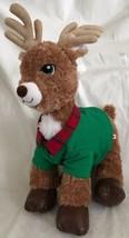 Build a Bear Workshop Retired Comet Reindeer Stitched Green Eyes Plush F... - $21.77