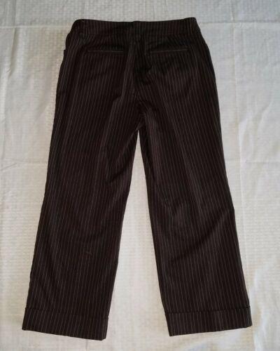 Women's Jones New York Capri Pants ~ Brown w/Stripes ~ Sz 6P Petite ~ Stretch