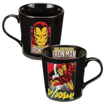 Marvel Comics: Iron Man Comic Art Images 12 oz. Black Ceramic Mug, NEW U... - $7.80