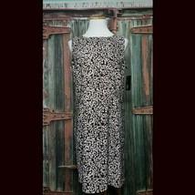 Brand New AGB Stretch Summer Dress Brown White Springtime Business Casua... - $37.40