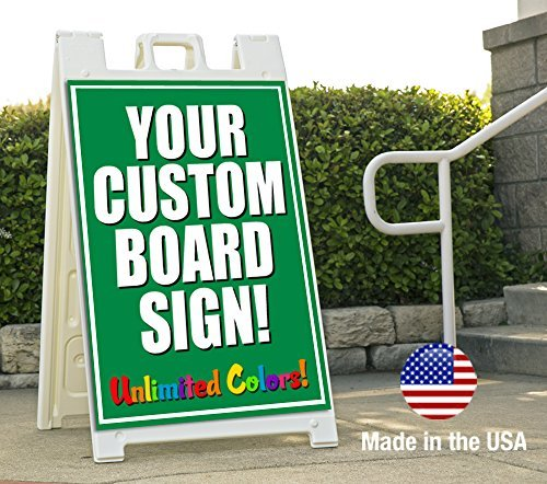 BuildASign Sandwich Board Sidewalk Sign Voucher Full Color Print on Two Sides