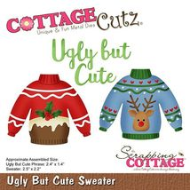 Ugly But Cute Sweater Cottage Cutz Die. Card Making. Scrapbooking