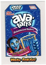 """2018 Wacky Packages Go To The Movies """"AVA TARTS"""" Silver Sticker Card 50/50 - $4.99"""