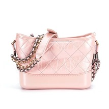 BRAND NEW AUTH Chanel 2019 IRIDESCENT CALFSKIN Pink Small Gabrielle Hobo Bag   image 3