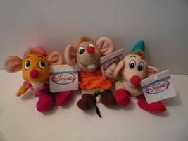 Disney Cinderella plush Mouse Set of 3 Jag, Suzy & Gus Mint with Tags - $27.72