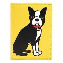 MARC TETRO BOSTON TERRIER PASSPORT TRAVEL CASE W/CREDIT CARD HOLDER  NWT - $18.99