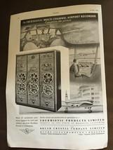 Vintage May 1953 Thermionische Mehrkanal Flughafen Recorder Original Wer... - $1.25