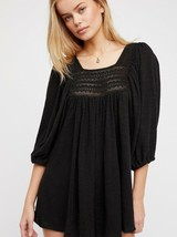 Free People Womens Black Dancing In The Waves Romper Size Small Black Ov... - $39.59