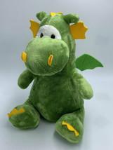 "G By Gund Green Yellow Dragon Plush Stuffed Animal Lovey Large 15"" 4060339 - $14.99"