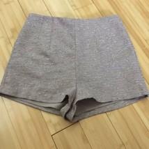 BCBG Maxazria Shorts high waist Pink silver Twill Party Club Summer Cott... - $27.00