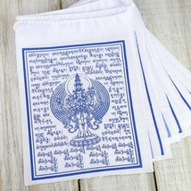 Avalokiteshvara White Cotton Prayer Flags - $5.17