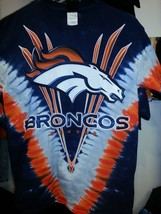 Denver Broncos Tie Dye V Dye T-Shirt Licensed Nfl Team Apparel - $27.71+