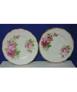 "Lot of 2 AMERICAN BEAUTY Royal Albert China 7 1/8"" PIE DESSERT PLATES En... - $24.24"