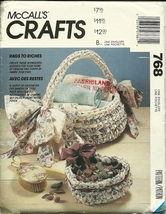 McCall's Sewing Pattern 768 Rags To Riches Crafts New - $6.99