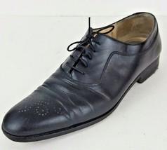 Salvatore Ferragamo Black Leather Italian Dress Shoes Men's Size 9.5 - $54.69