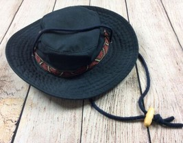 Dorfman Pacific Mens Sun Hat M Navy Adjustable Chin Strap Boonie Safari ... - $19.79